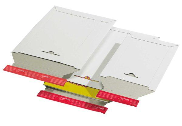 Pochette d'expédition refermable carton rigide blanc 295x375