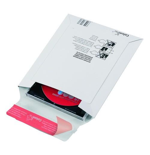 Pochette pour l'envoi de supports de données électroniques an carton rigide blanc CP011.08