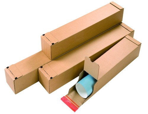 Boîte d'expédition pour plans avec double fermeture adhésive CP072.02