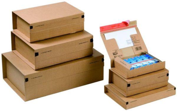 Pack de 2 boîtes d'expédition postale 262x165x50mm