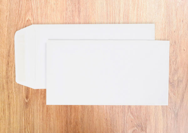 Pochettes 115X225 Blanc FSC 120g