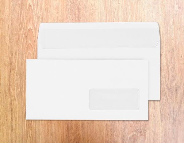 Enveloppes auto-adhésives DL-110x220 Blanc 90g 45x100